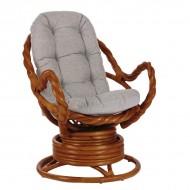 Кресло-качалка Moravia коньяк